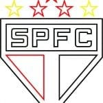 EMBLEMA DO SÃO PAULO FUTEBOL CLUBE DE SÃO PAULO-SP PARA COLORIR 18