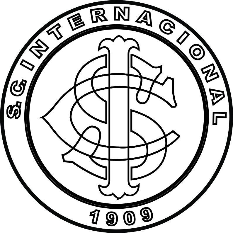 EMBLEMA DO S. C. INTERNACIONAL DE PORTO ALEGRE-RS PARA COLORIR 14 884a24b83c775