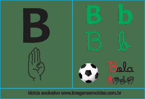 Imagens, Cartazes de Letra B em Libras - Letra B