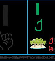 Imagens, Cartazes de Letras em Libra Letra I - Letra I Alfabeto