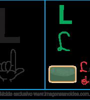 Imagens, Cartazes de Letras em Libra Letra L - Letra L Alfabeto