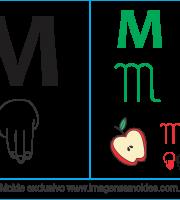 Imagens, Cartazes de Letras em Libra Letra M - Letra M Alfabeto