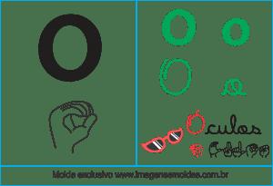 Imagens, Cartazes de Letras em Libra Letra O - Letra O Alfabeto