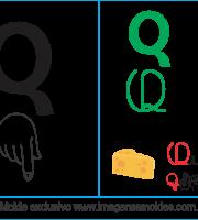 Imagens, Cartazes de Letras em Libra Letra Q - Letra Q Alfabeto