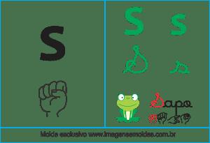 Imagens, Cartazes de Letras em Libra Letra S - Letra S Alfabeto