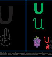 Imagens, Cartazes de Letras em Libra Letra U - Letra U Alfabeto