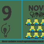 Imagens, Cartazes de Números em Libras – Número Nove