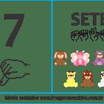 Imagens, Cartazes de Números em Libras – Número Sete