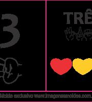 Imagens de Números em Libras Número 3