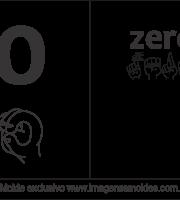 Imagens de Números em Libras Número 0
