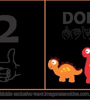 Imagens de Números em Libras Número 2