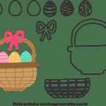 Molde de Páscoa para Feltro – EVA e Artesanatos 10