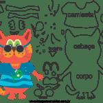 Molde de animal gato 1 para Eva, Feltro e Artesanato
