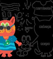 Molde de animal, gato para feltro, eva e artesanato