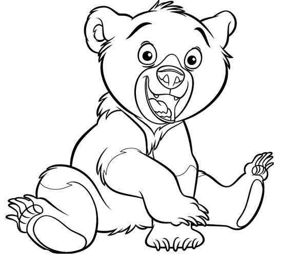 desenhos para colorir irmÃo urso