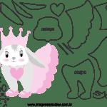 Molde de animal coelhinha, para Eva, Feltro e Artesanato