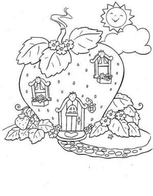 desenhos para colorir casa da moranguinho