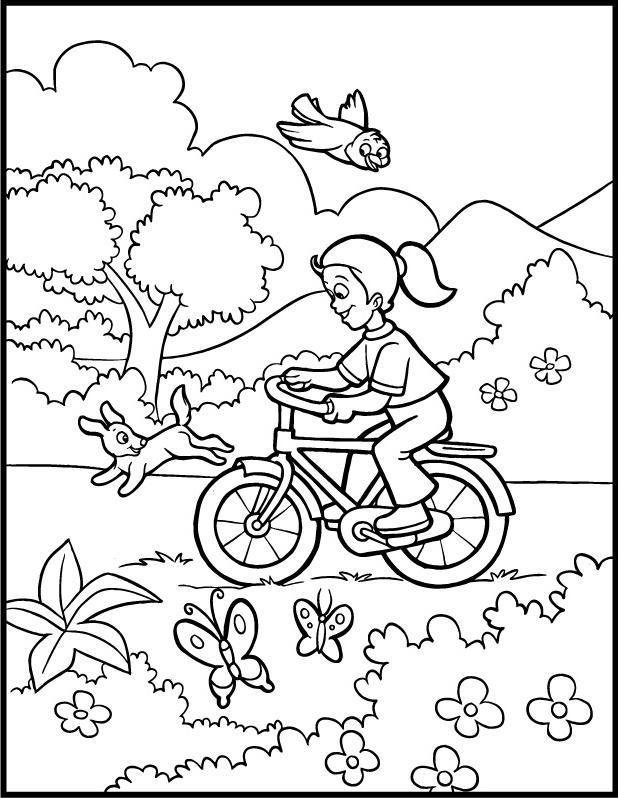 desenhos para colorir da primavera