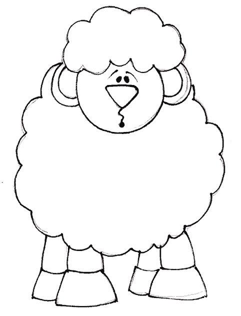 desenhos para colorir de ovelhas
