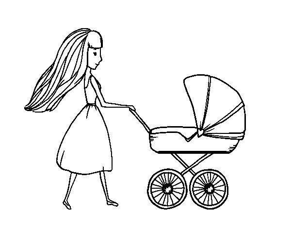 kleurplaat baby in kinderwagen baby 6 malvorlagen geburt