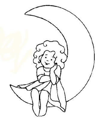desenhos para colorir menina sonhadora