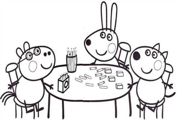 Desenhos infantil para colorir da peppa pig for Peppa pig coloring pages christmas