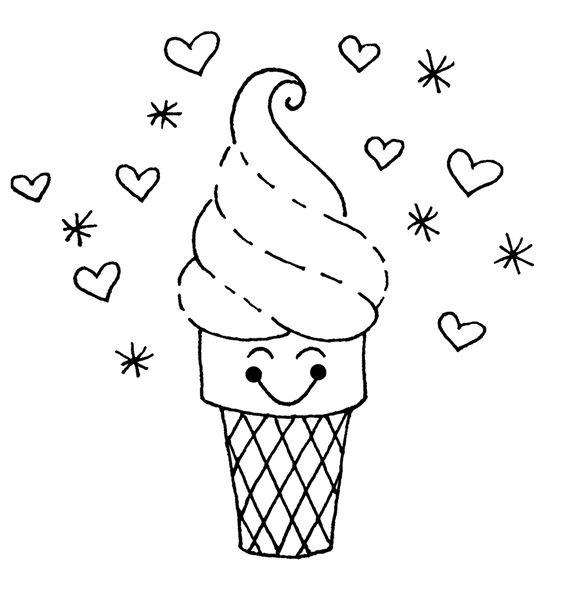 desenhos desenho infantil para colorir de sorvete