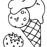 Desenhos Infantil para Colorir de Sorvetes