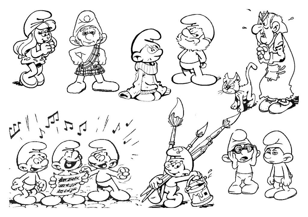Desenhos Para Colorir Os Smurfs