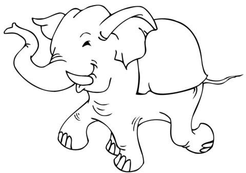 Desenhos Para Colorir De Elefante