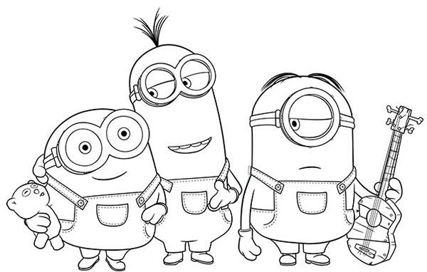 desenhos para colorir dos minions