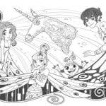 Desenhos para Colorir o Mundo de Mia