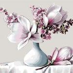 Imagem Vaso de Flores Lírios PNG