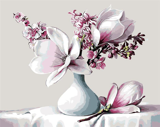 Desenhos para colorir flores de l rio em vaso branco azul for Lilium in vaso