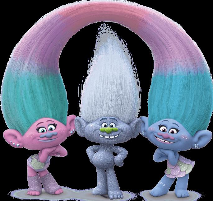 Imagens satin e chenille trolls 02 - Personagens Filme Trolls