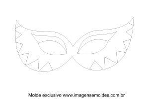 Molde de Carnaval - Máscara 1 - Molde para EVA - Feltro