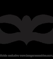 Molde de Carnaval - Máscara 11 - Molde para EVA - Feltro
