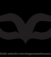 Molde de Carnaval - Máscara 12 - Molde para EVA - Feltro