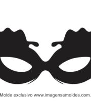 Molde de Carnaval - Máscara 8 - Molde para EVA - Feltro