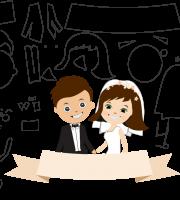 Molde de casamento 3 para eva, feltro e artesanato