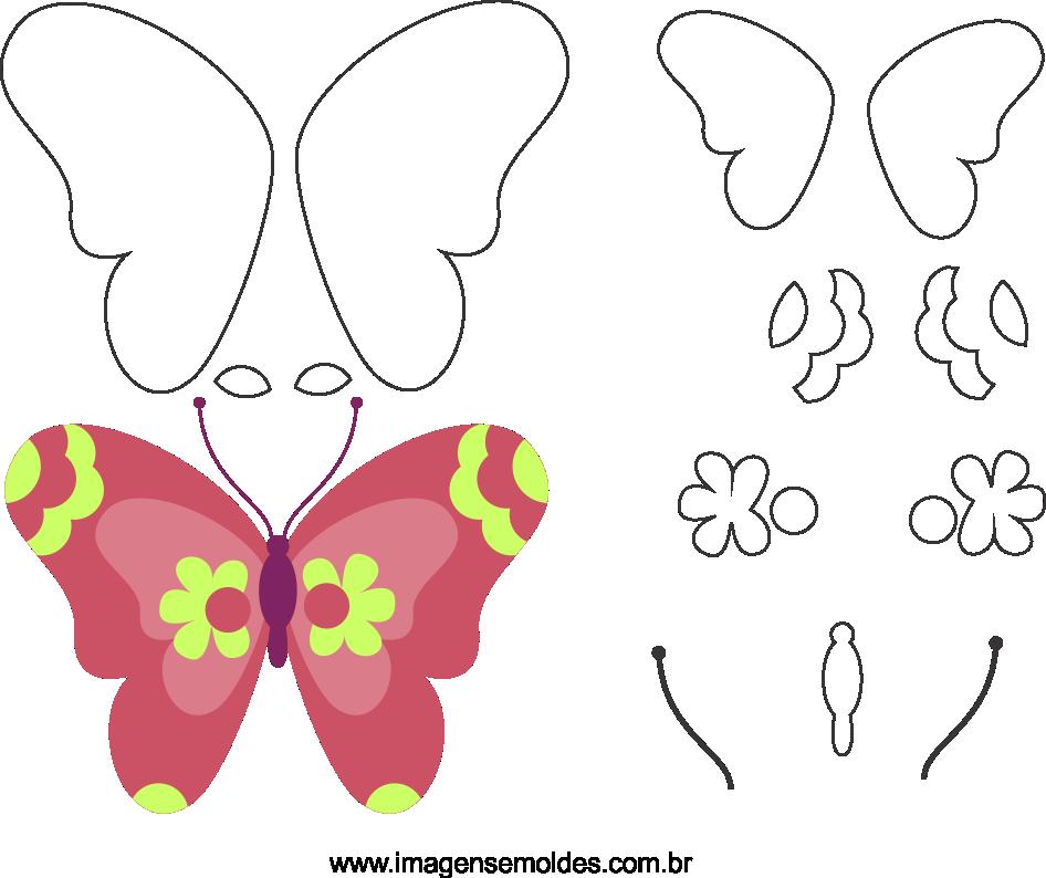 Molde de borboleta 1 para eva, feltro e artesanato