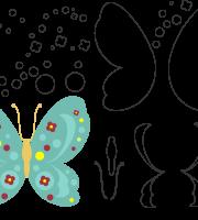 Molde de borboleta 2 para eva, feltro e artesanato