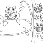 Desenhos para Colorir de Coruja