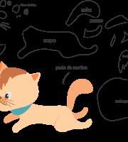 Molde de gato 3 para Eva, Feltro e Artesanato