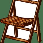 Imagem de Cadeira de Madeira em PNG para imprimir