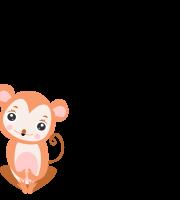 Molde de animal, macaco 1 para feltro, eva e artesanato