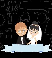 Molde de casamento 4 para eva, feltro e artesanato