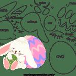 Molde de Páscoa 2 para Feltro – EVA e Artesanatos