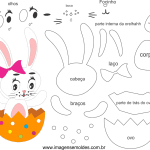 Molde de Páscoa 5 para Feltro – EVA e Artesanatos