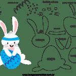 Molde de Páscoa 6 para Feltro – EVA e Artesanatos